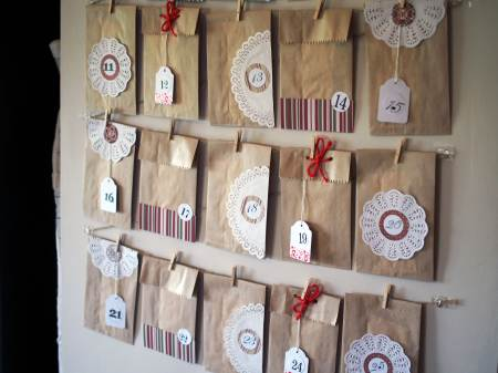 Cute Christmas Advent Calendar by Keep Calm Get Organized