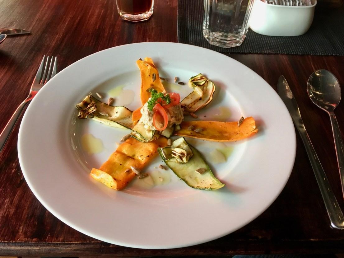 Vegetable Carpaccio with Tuna Tartare