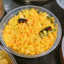 Cabbage & Carrot Thoran