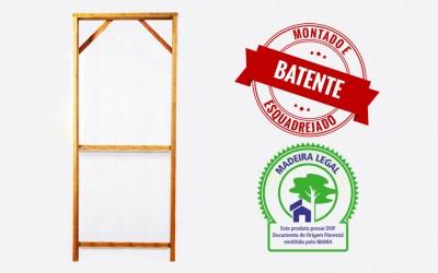 Batente de madeira legalizada e de muita qualidade.