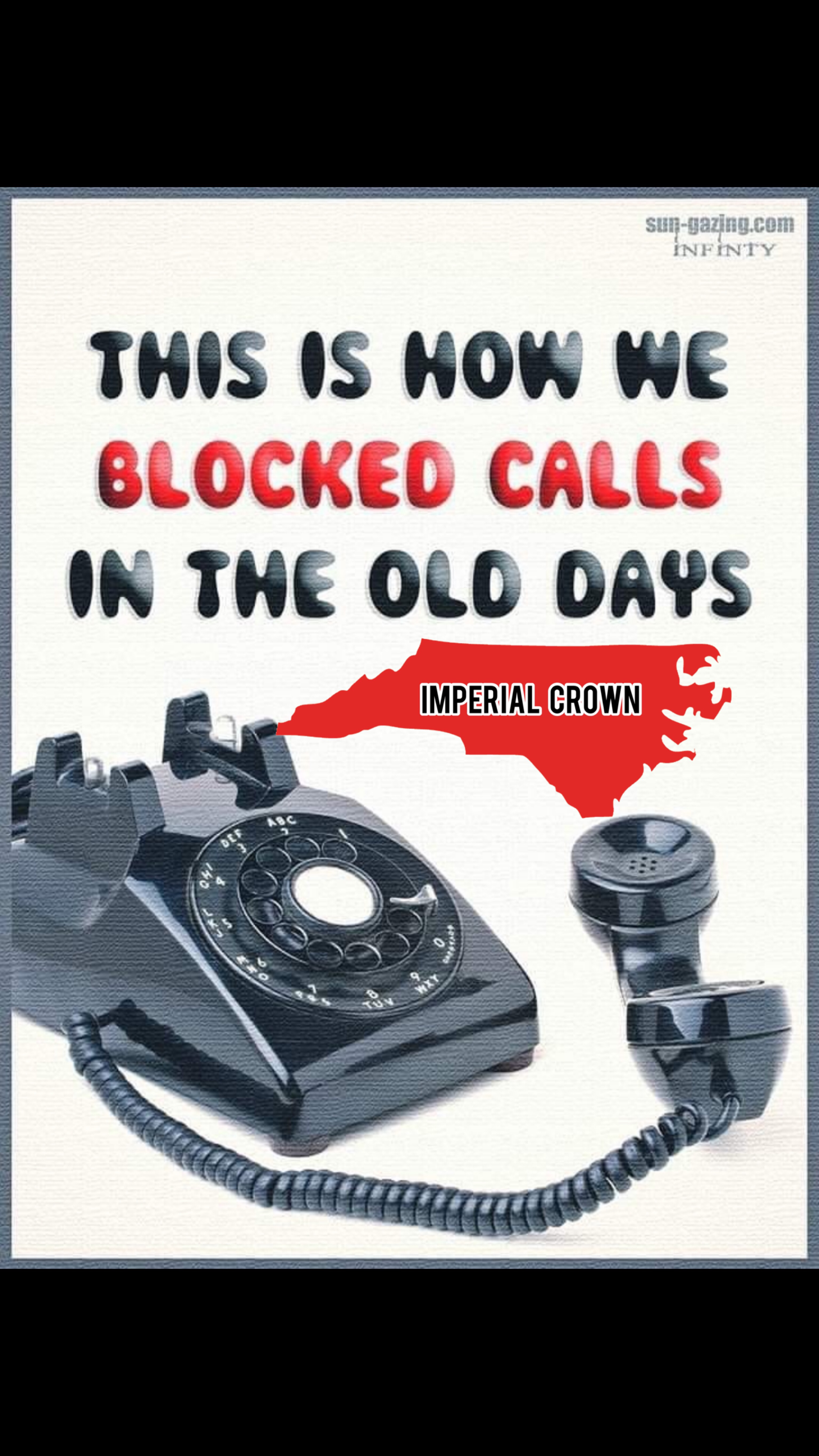 This is how we blocked calls in the old days…..