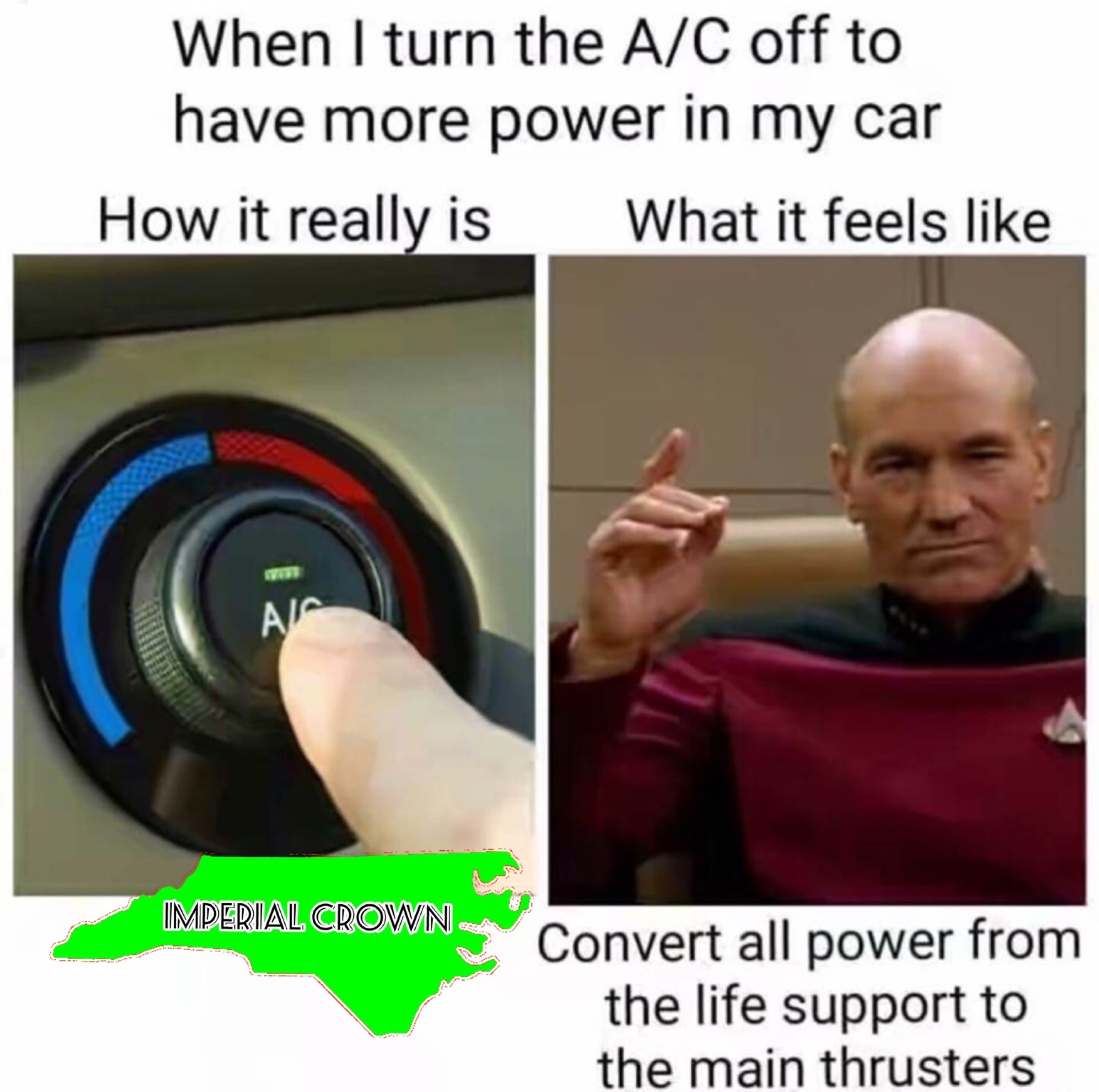 When I turn then A/C off to have more power in my car……