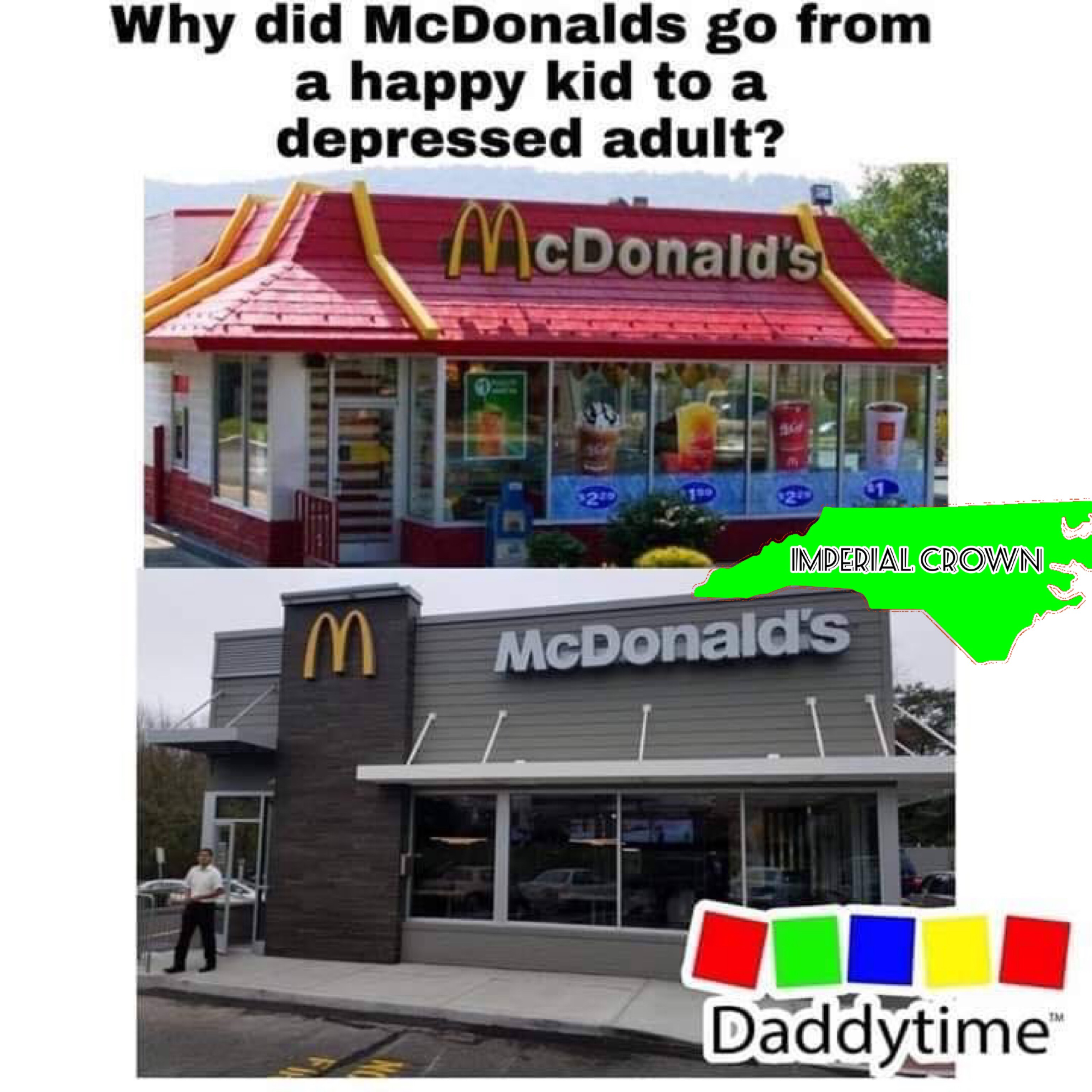 Why did Mc Donald's go from a happy kid to…