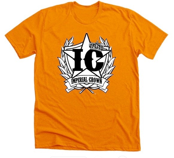 Imperial Crown black & white logo with orange Premium T Shirt