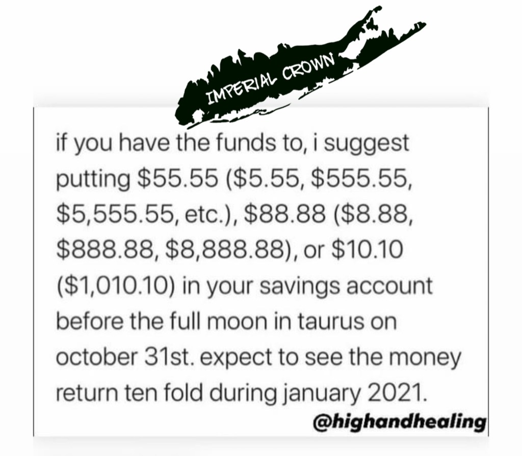 If you have the funds to I suggest putting $55.55 $88.88 or $10.10 in your savings account before the full