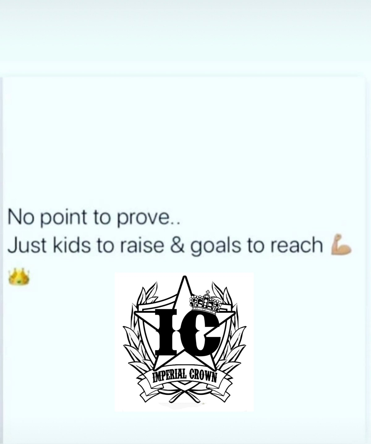 No point to prove..  Just kids to raise & goals to reach💪🏾 👑