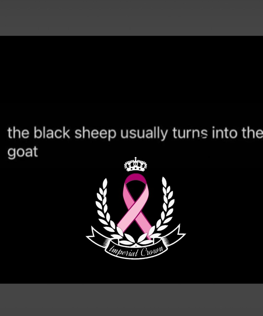 The black sheep usually turns  into the goat