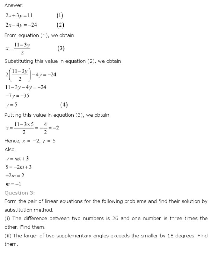NCERT Solutions for Class 10th Maths Chapter 3 – Pair of Linear Equations in Two VariablesNCERT Solutions for Class 10th Maths Chapter 3 – Pair of Linear Equations in Two Variables