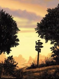 Warhammer Quest Travelling Hazards - Road Sign