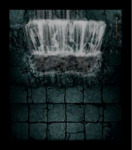 Sample of one of the new Warhammer Quest Board Section - the Waterfall Room - available to download