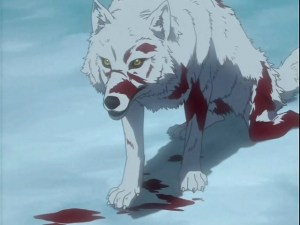 Image of a wounded Wolf to illustrate the Warhammer Quest Travelling Hazard entitled Wounded Beast