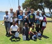 Novice sailors having completed a first level learn to sail