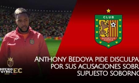 Anthony Bedoya se retracta y pide disculpas por sus acusaciones