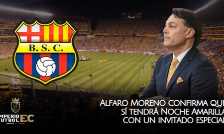 Alfaro Moreno presidente de Barcelona SC confirma que sí tendrá Noche Amarilla con un invitado especial