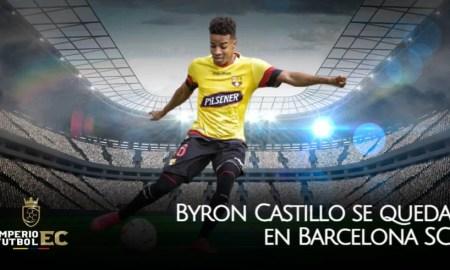 Byron Castillo se queda en Barcelona SC