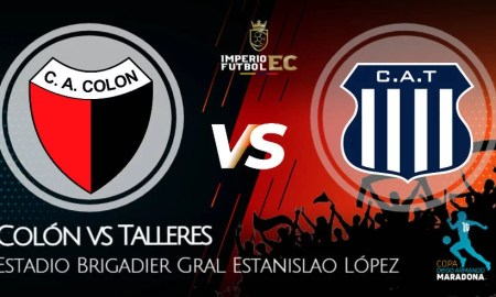 Colón vs Talleres EN VIVO Canales TV y dónde ver Copa Diego Maradona