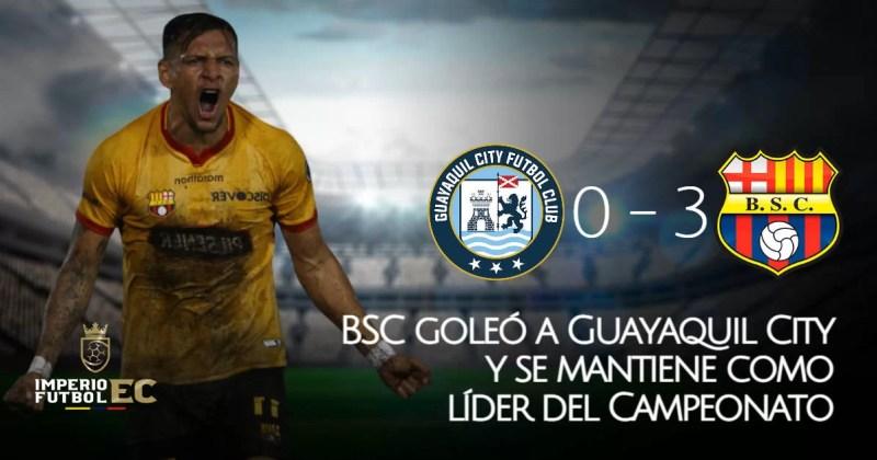 BSC goleó a Guayaquil City y se mantiene como líder del Campeonato (GOLES)