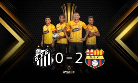 Barcelona SC venció 2-0 a Santos FC por el Grupo C de la Copa Libertadores