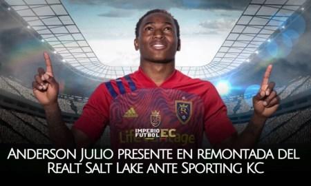 Anderson Julio presente en remontada del Realt Salt Lake ante Sporting KC por la MLS