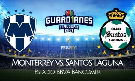 Monterrey - Santos Laguna EN VIVO TUDN por cuartos de final de la Liga MX