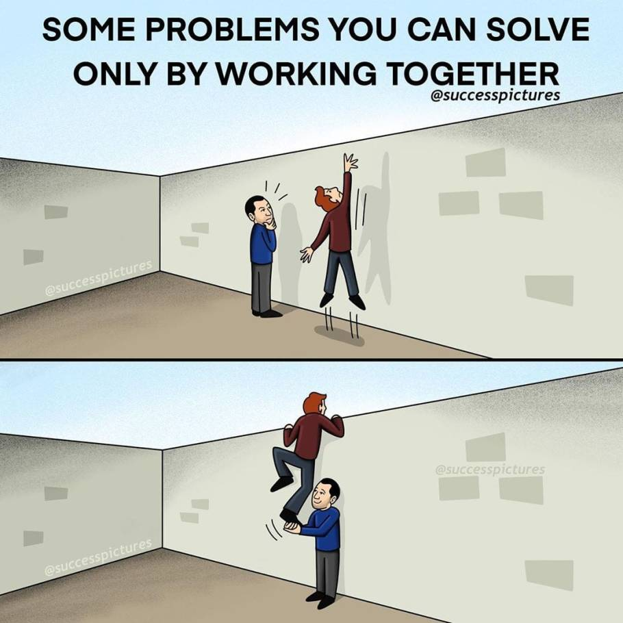 Some Problems You Can Solve Only by Working Together