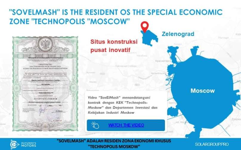 SolarGroup, Sovelmash is the Resident OS the Special Economic Zone Technopolis Moscow
