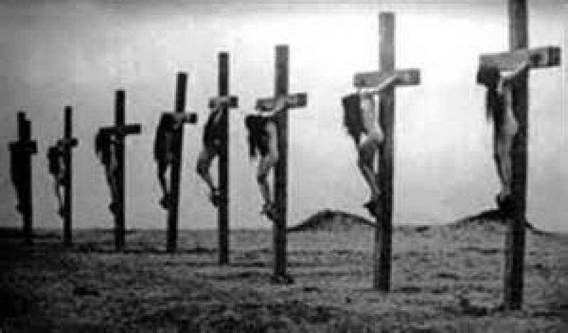 from the Armenian Genocide, including crucified Christian girls
