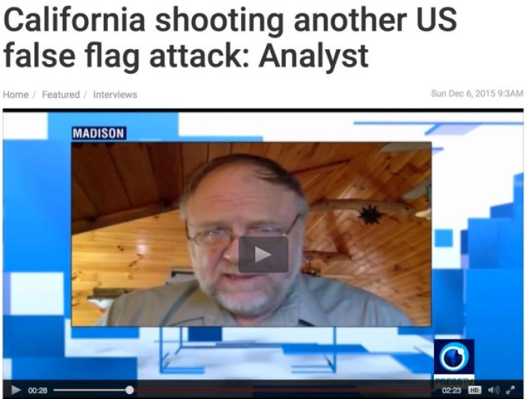 Watch the interview California shooting another US false flag attack: Analyst on Press TV