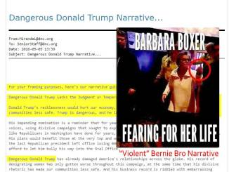 "DNC Wikileaks: ""Dangerous Donald Trump"" Narrative Now Suspect as ""Violent"" Bernie Bros Narrative"