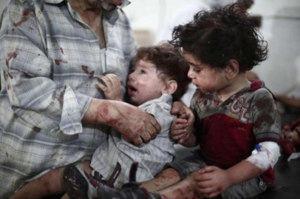 How can anyone turn away from a child, facing mortal terror? All Christian the children in Mosul are reportedly being killed.