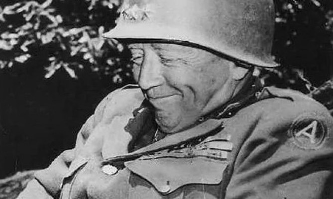 Even has that Trump grin! Also notable is thebeliefsuch generals tend to make repeat performances in major wars, because they just love a good fight. If this wild guess is true, Patton just came back forWorld War III.