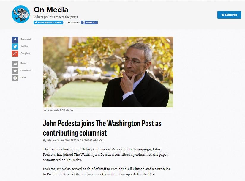 "Washington Post Rolls Out New ""Kids Column"" by John Podesta"