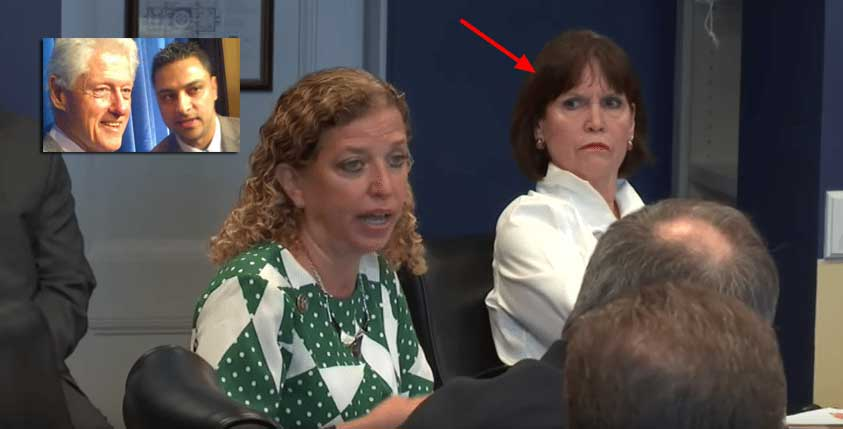 Image result for photos of debbie wasserman schultz with imran awan and the clintons