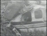 Wreckage of John F. Kennedy, Jr. plane crash.