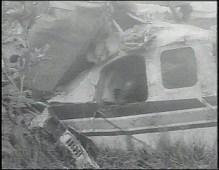 Wreckage of John F. Kennedy, Jr. plane crash.