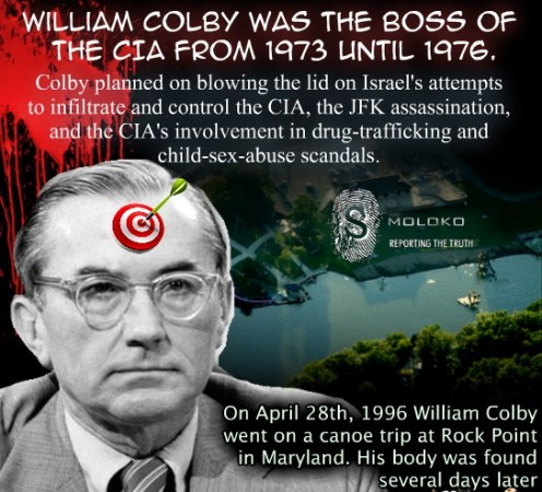 In other words, William Colby was killed exposing exactly what President Trump is exposing now.