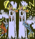 Satanic occult Tarot card depicting the World Trade Center destruction on 11 September 2001