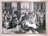 Beheading of Anne Boleyn under orders given by King Henry VIII the year prior to the beheading of Princess Meghan Markle's direct ancestor Lord John Hussey