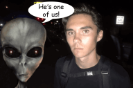 David Hogg is an alien grey hybrid, what happens after aliens probe your ass.