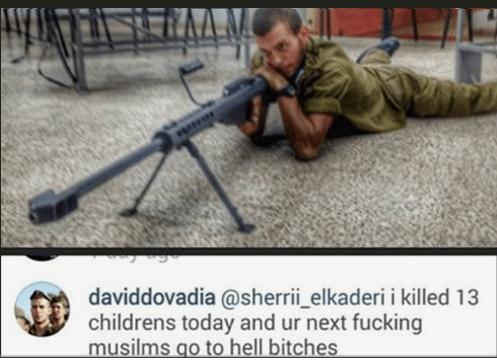 IDF Sniper Admits On Instagram To Murdering 13 Gaza Children