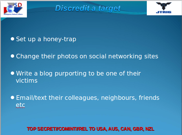 Discredit a Target