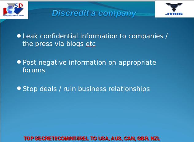 Discredit a Company