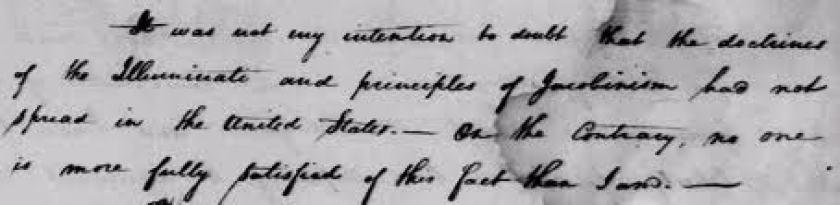 George Washington regarding the Illuminati