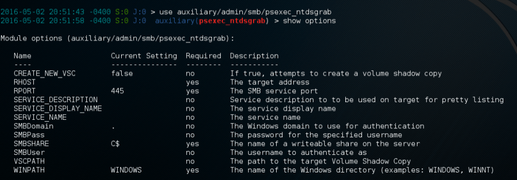 Cracking Domain Passwords from NTDS.dit with Metasploit and john