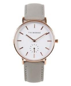 グレーのベルトの腕時計
