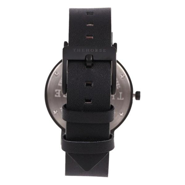 日付機能付き腕時計THE HORSE(ザホース)時計dシリーズブラックレザー