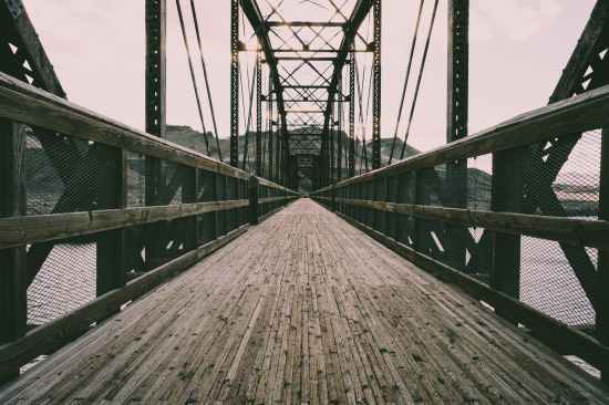 empty brown bridge