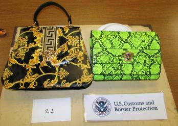 Image of seized purses, source: CBP.gov
