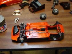Rear suspension installed.