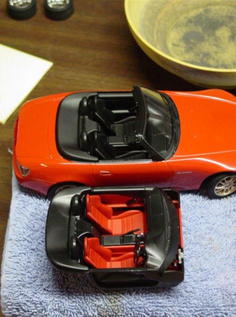 The original red and black interior will end up in the S2000 I finished for myself.